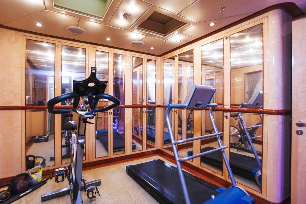 Gym Interior on Komokwa Yacht