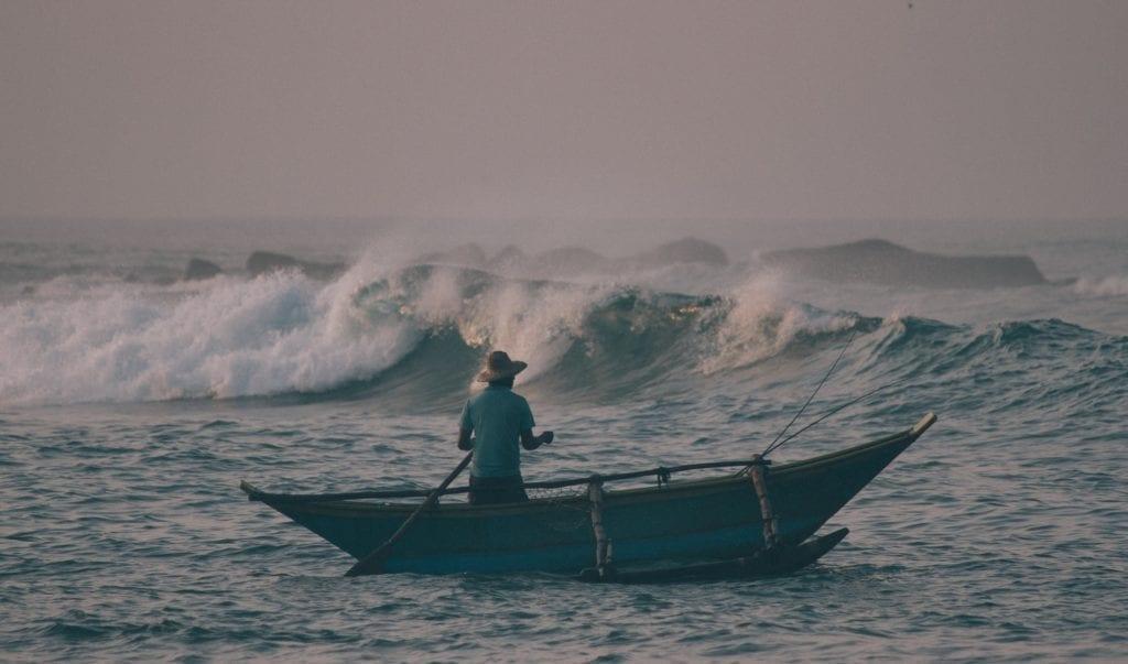 Local Fishing Boat in Sri Lanka