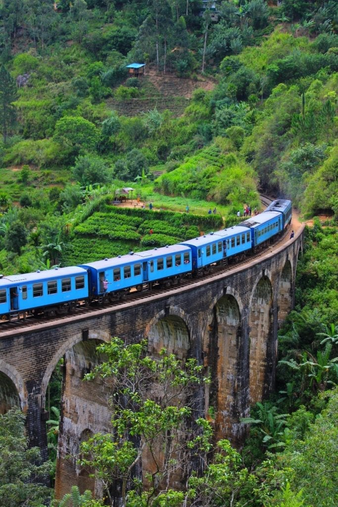 Train on a Bridge in Sri Lanka