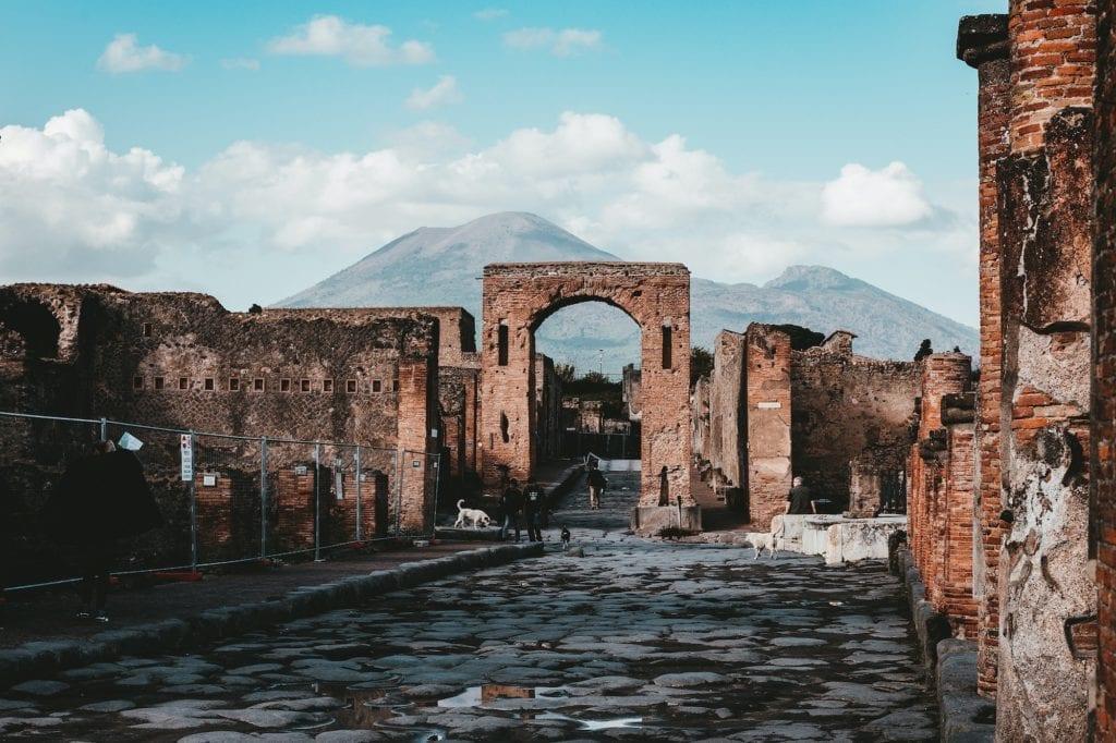 Pompeii Vesuvius Italy Town Volcano