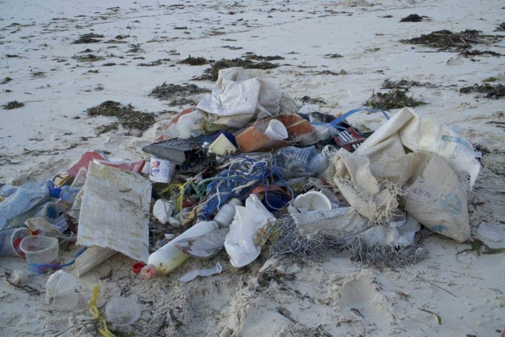 kenya beach clean up rubbish