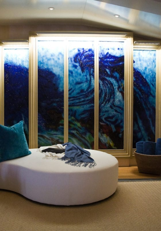 interior yacht art featuring on board Sea Rhapsody