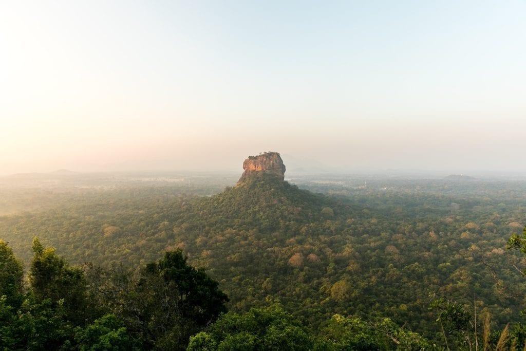 Sigiriya Sri Lanka View at dusk