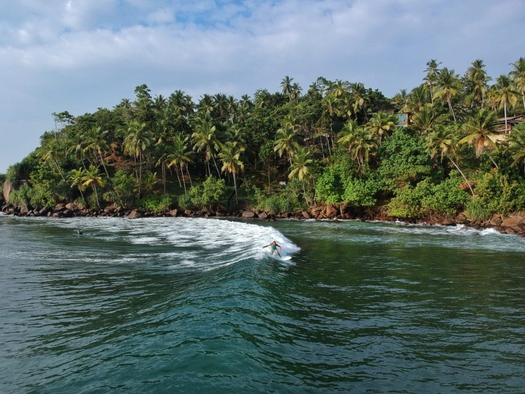 Surfing the Coastline of Mirissa in Sri Lanka