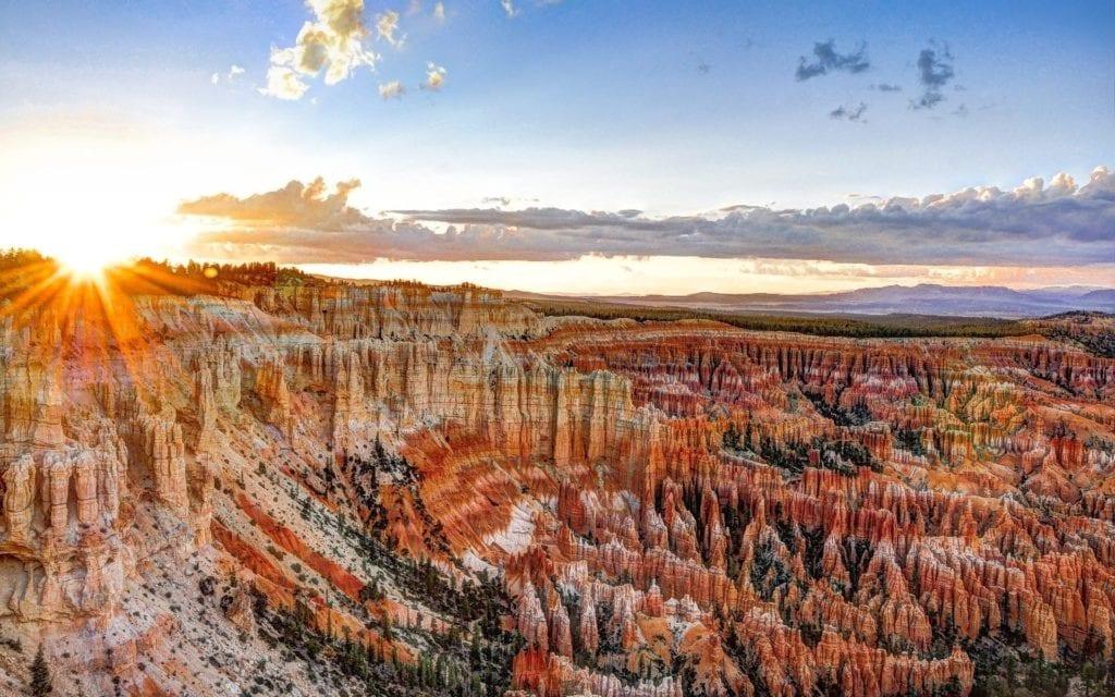Sunsetting over Bryce Canyon Utah