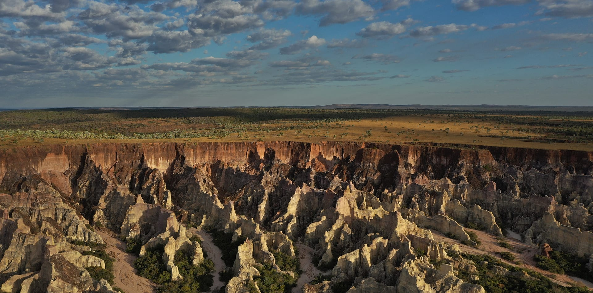 Cirques Blancs Rock Formations Aerial View Hero Image