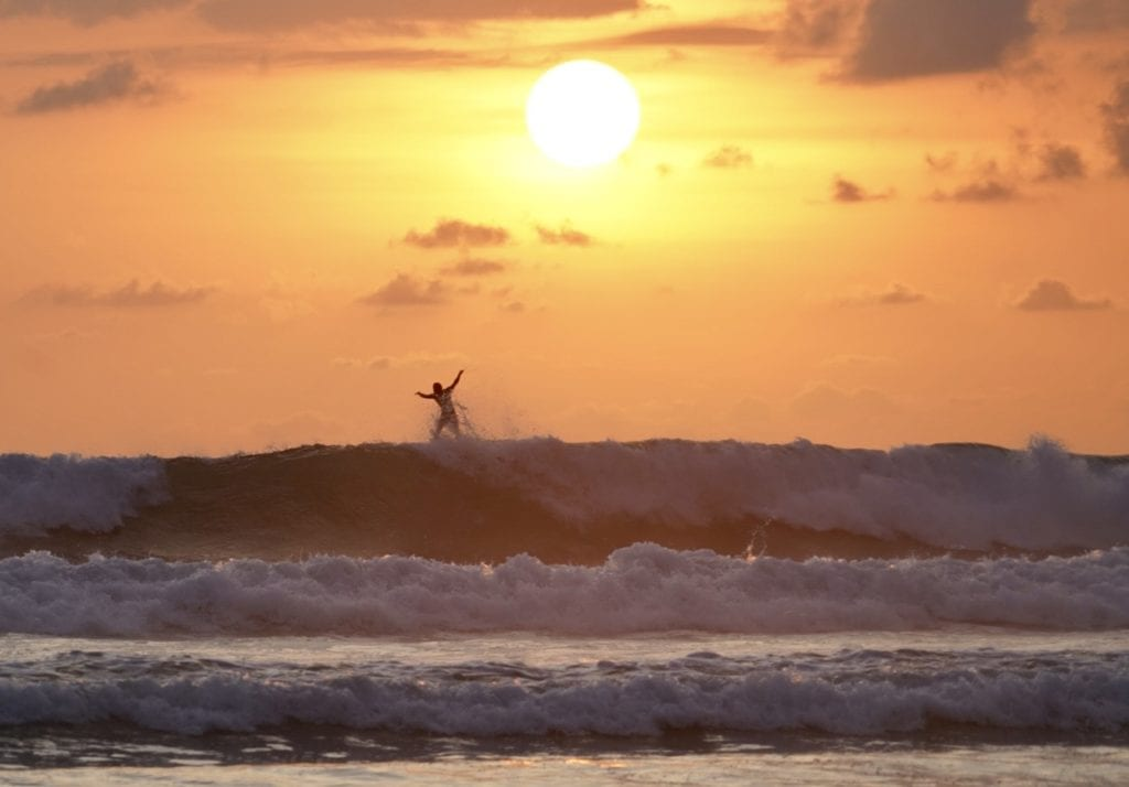 Sunset Surfing, Pacific Coast, Costa Rica