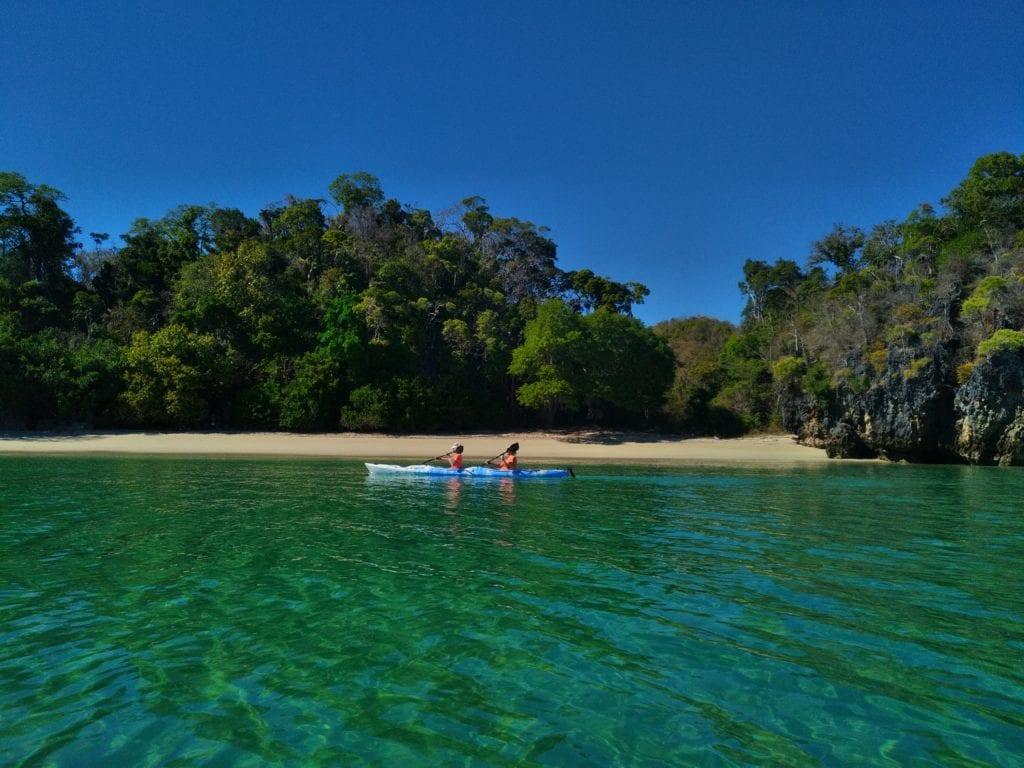 Kayaking in Moramba Bay Madagascar