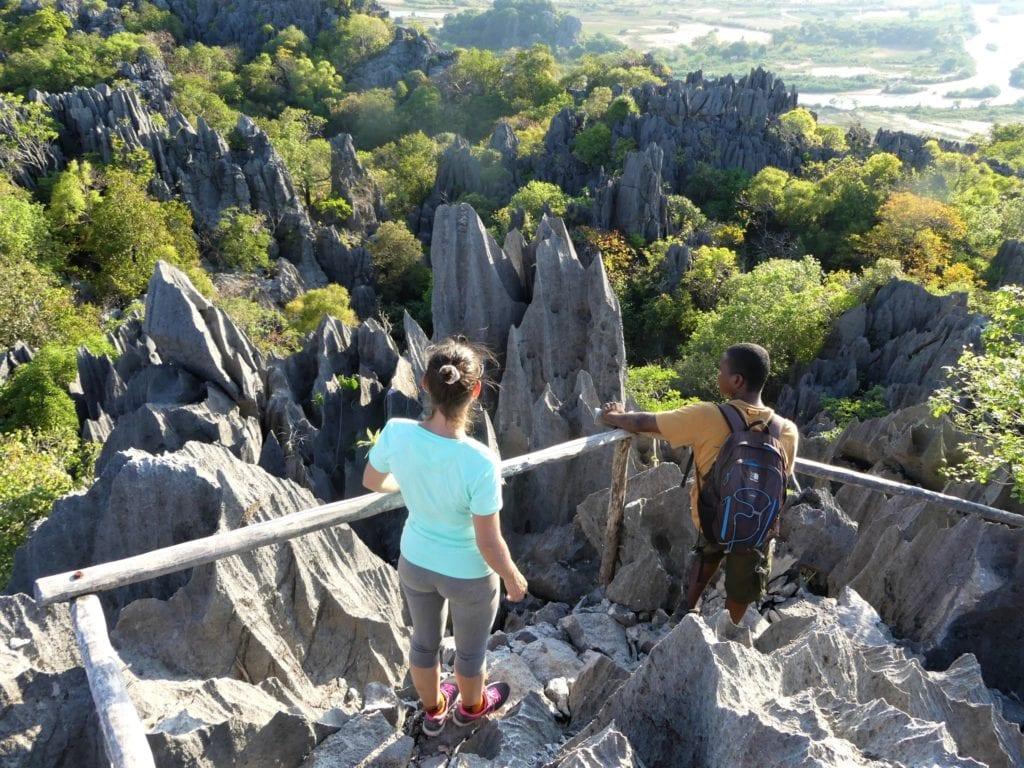 Exploring Tsingy Limestone Rock Formations Madagascar