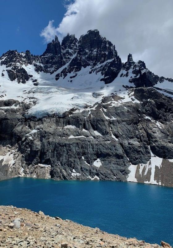 Chile, Laguna Cerro Castillo, alpine lake