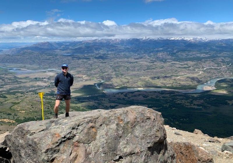 Chile, Parque Nacional Cerro Castillo, Charlie hiking view