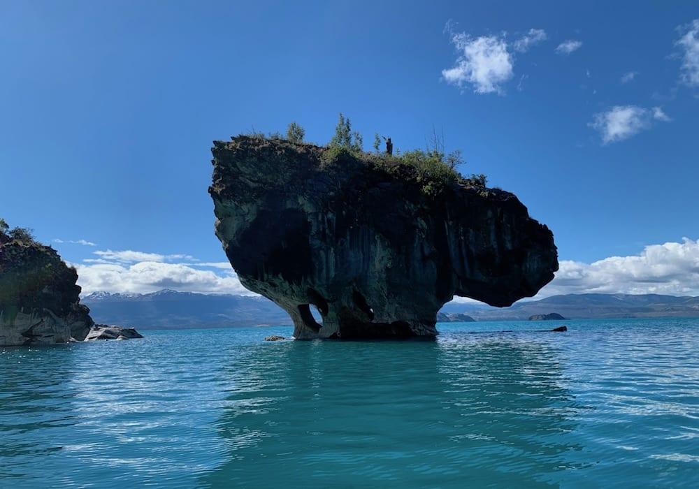 Chile, Puerto Rio Tranquillo, rock formation