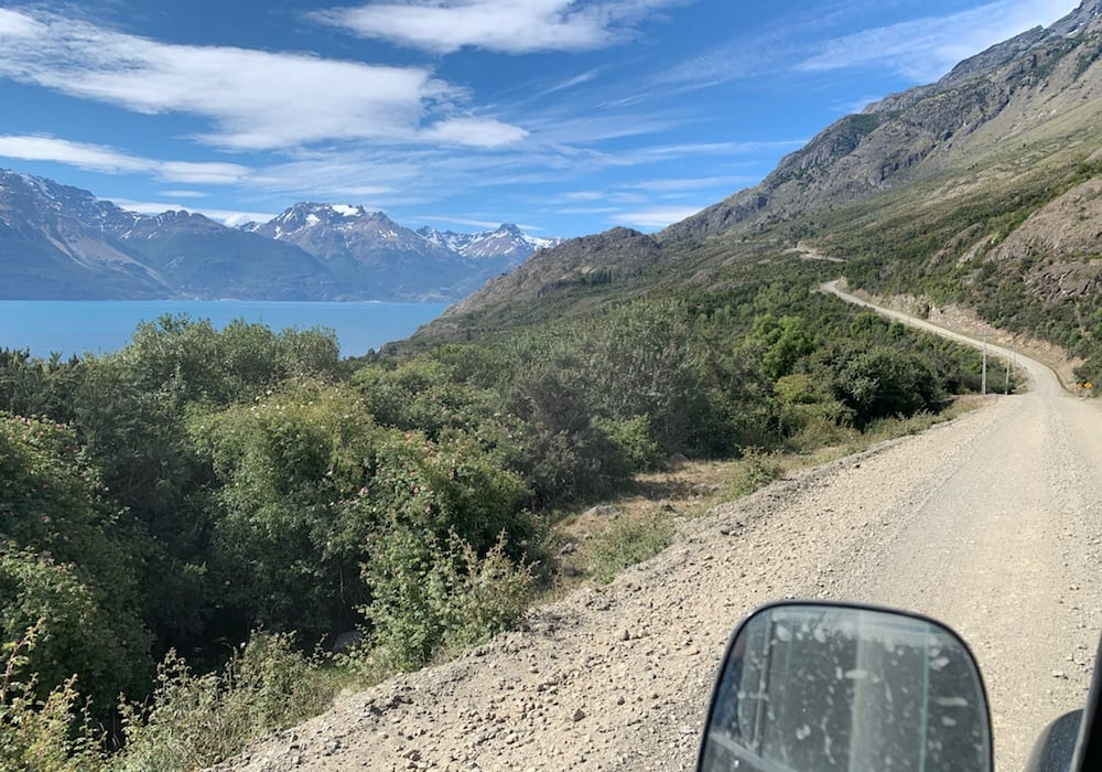 Chile, Puerto Rio Tranquillo, view from car