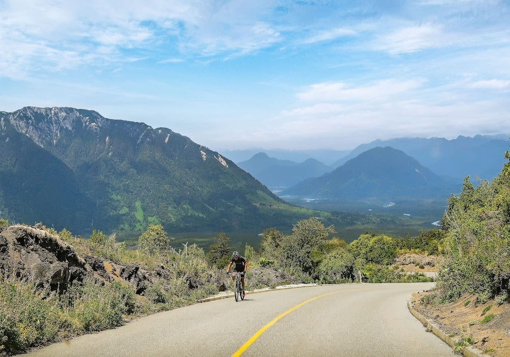 Chile, Puerto Varas, Cyclist