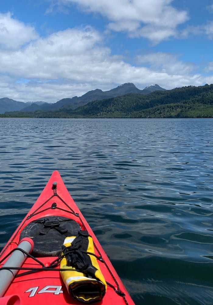 Chile, Puyuhuapi, Kayaking the fjords