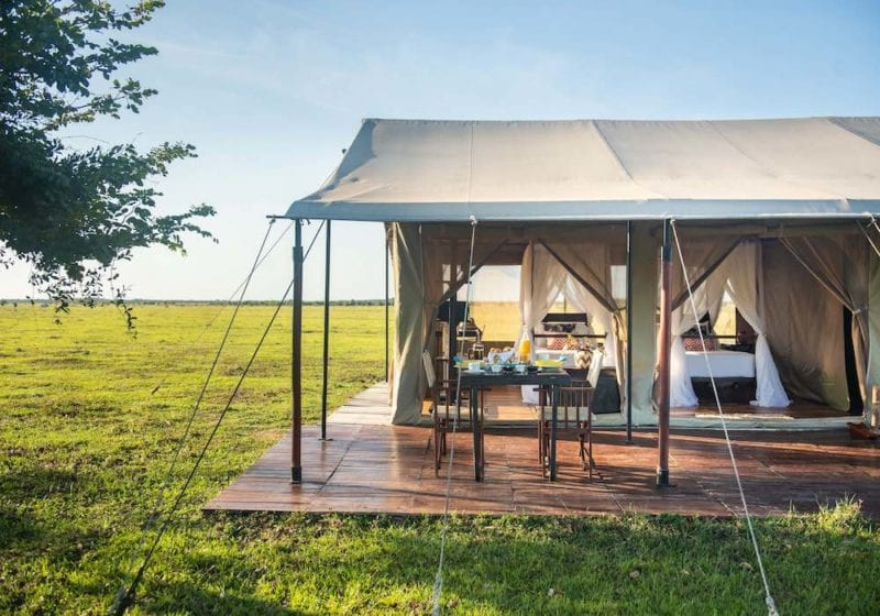Luxury tented camps at Corocora Wildlife Camp