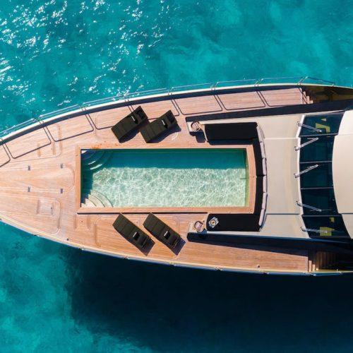 DB9 Yacht Aerial Sun-Loungers Pool Exterior