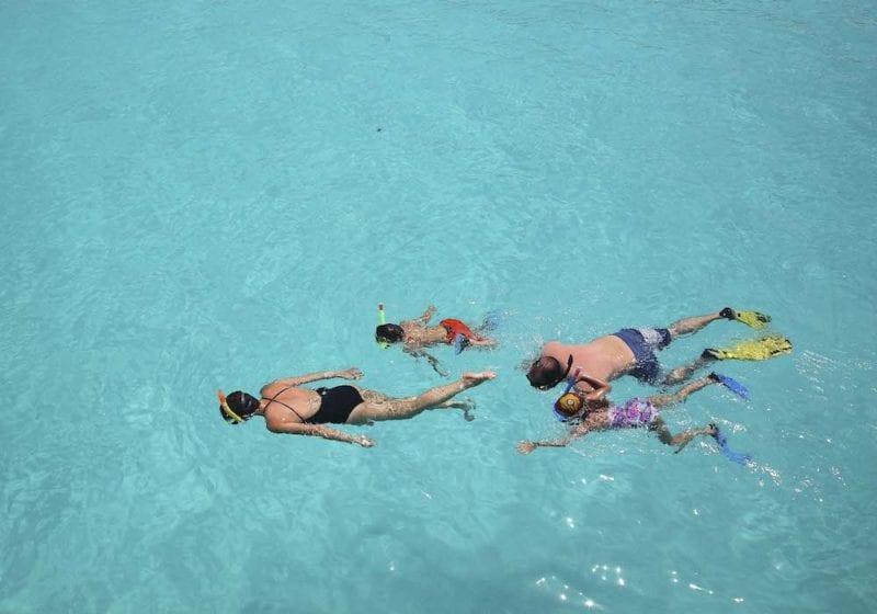 Family Snorkelling, andBeyond Mnemba Island, Maldives