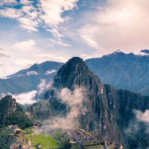Machu Pichu amongst the clouds, Peruvian Andes, South America