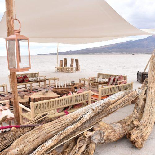 Creative Dining in Yurt Camp Sajama, Bolivia Salt Flats