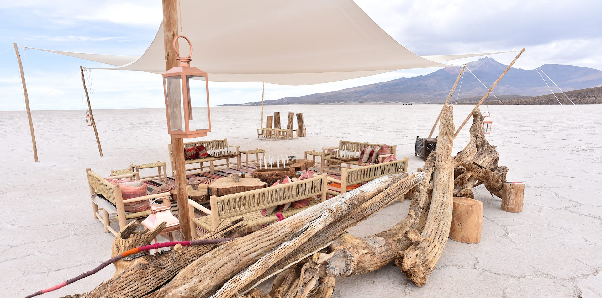 Creative Dining in Yurt Camp Sajama, Bolivia Salt Flats