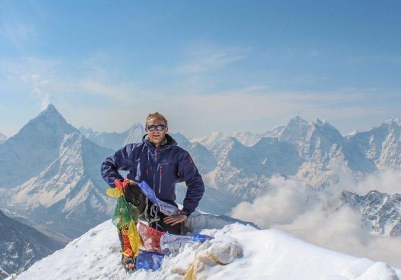 Jimmy climbing Everest