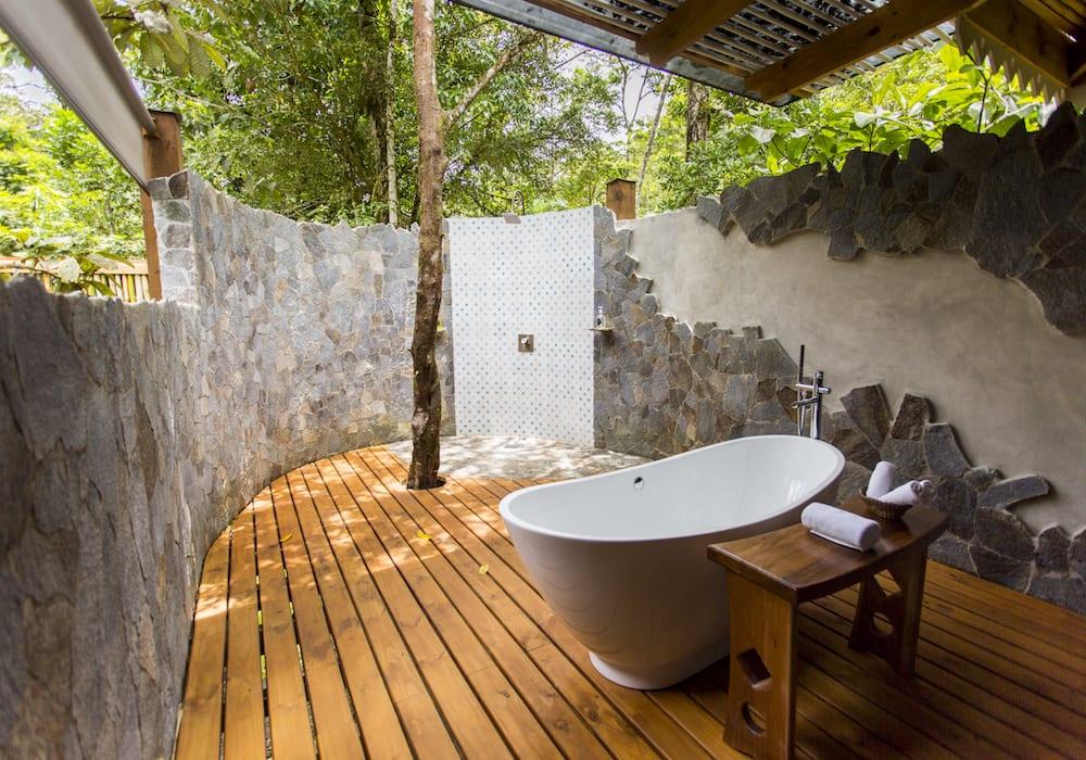 Pacuare Lodge Outdoor Bathroom, Costa Rica