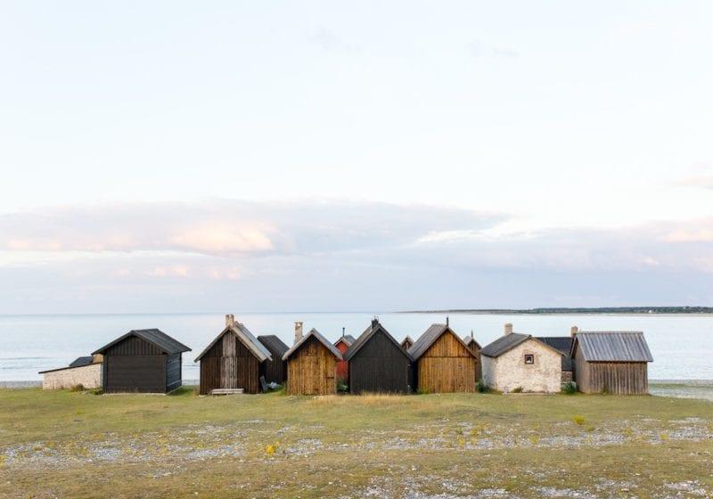 summer sweden wood cabins