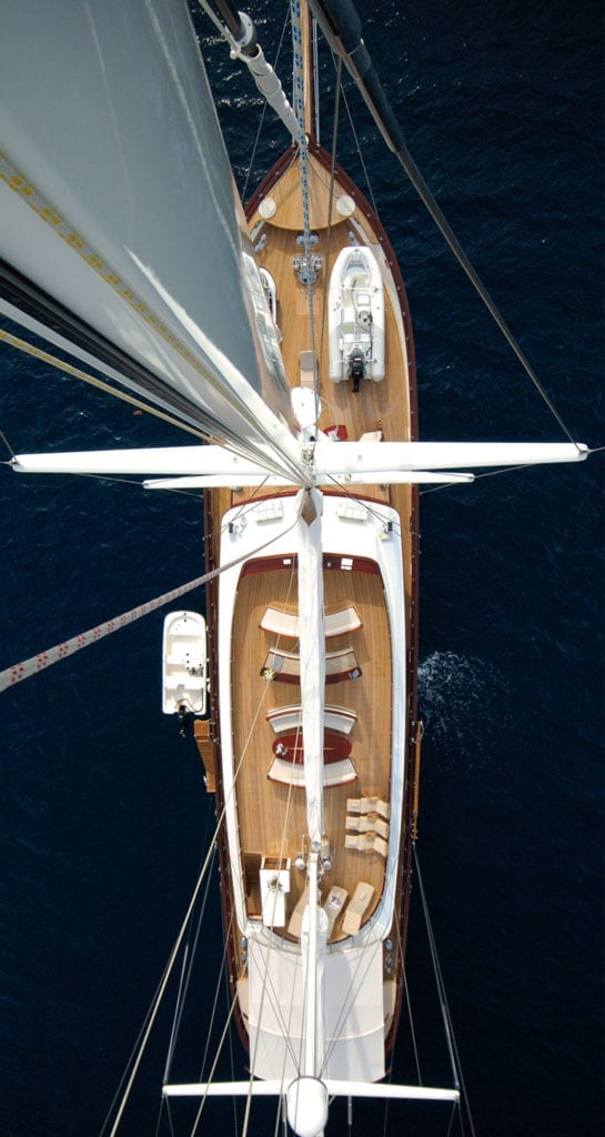 RIANA Yacht Aerial View of Deck