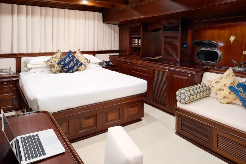 RIANA Yacht Bedroom Interior Double Bed