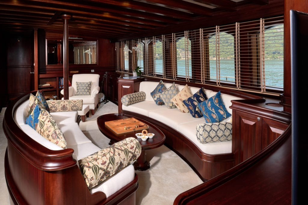 RIANA Yacht Interior Seating Lounge Area