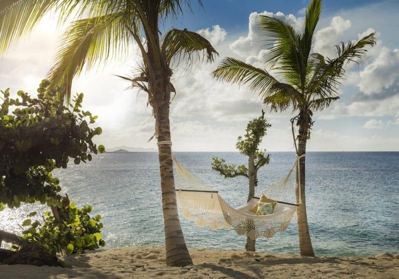 Remote Working New Office Hammock Turtle Beach Necker Island, Caribbean