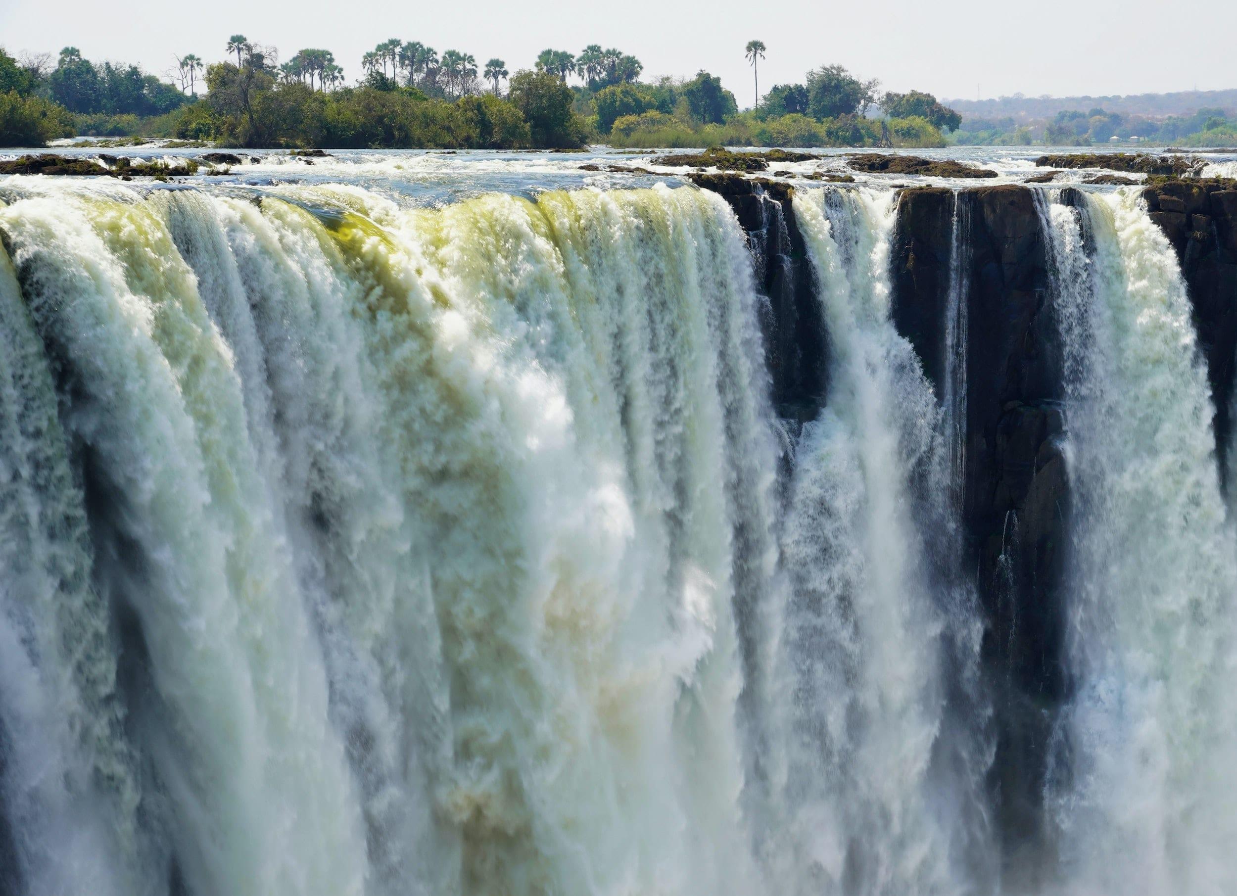 Dramatic image of Victoria Falls, Zambia, Africa