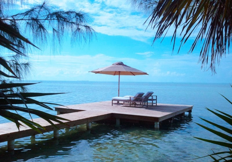 View from the Office to the Pontoon, Cayo Espanto, Belize, Remote Working