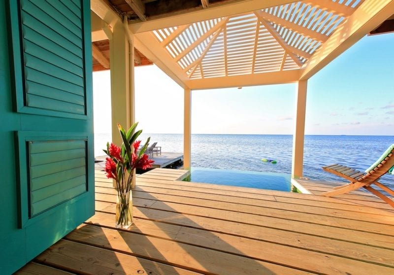 View from the Office to the sea, Cayo Espanto, Belize, Remote Working