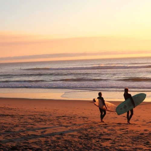 Portugal's Surf Scene at Sunset