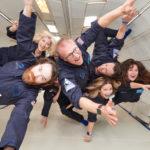 flying in zero gravity